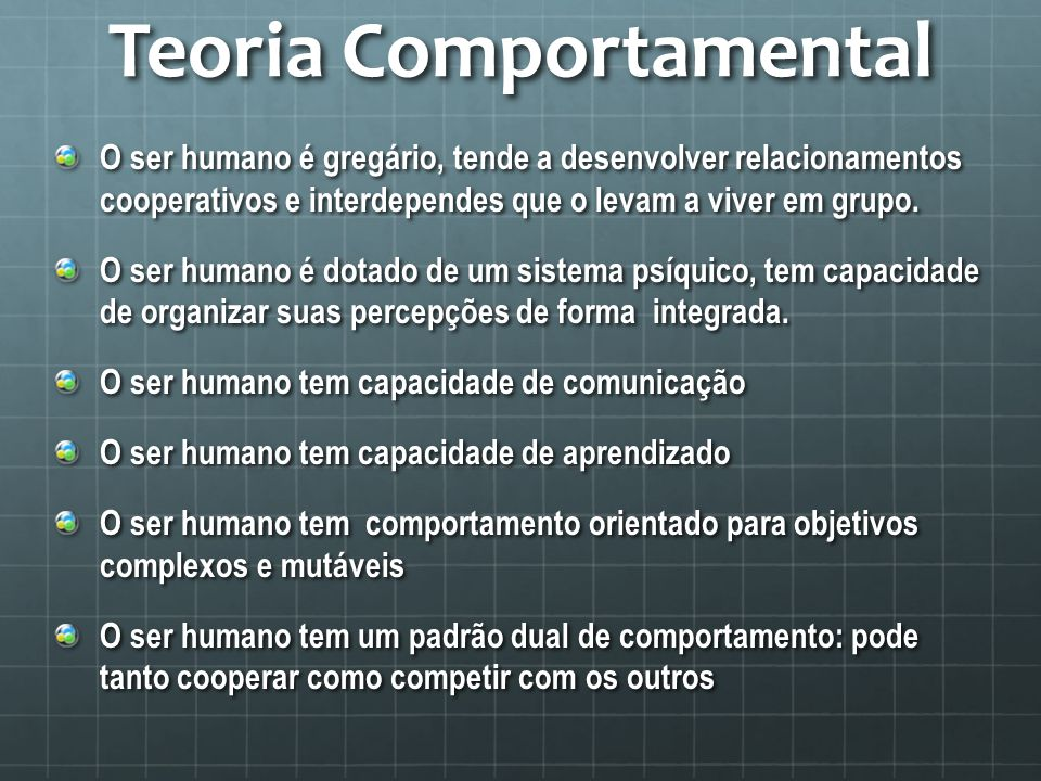 Teoria Comportamental