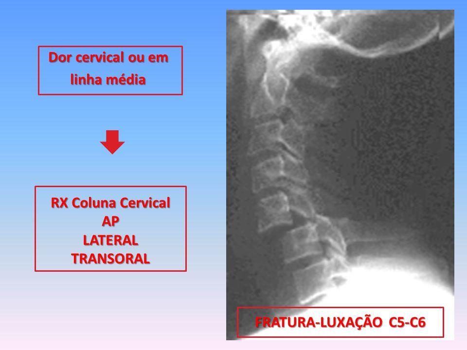 Dor cervical ou em linha média