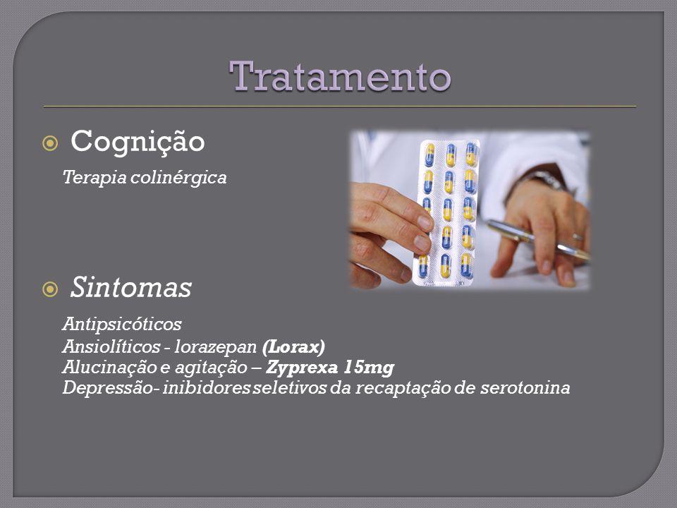 Tratamento Cognição Terapia colinérgica Sintomas Antipsicóticos