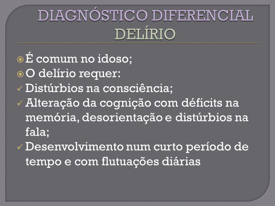 DIAGNÓSTICO DIFERENCIAL DELÍRIO