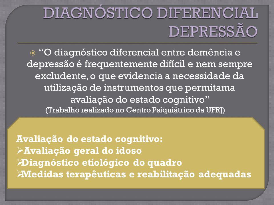 DIAGNÓSTICO DIFERENCIAL DEPRESSÃO