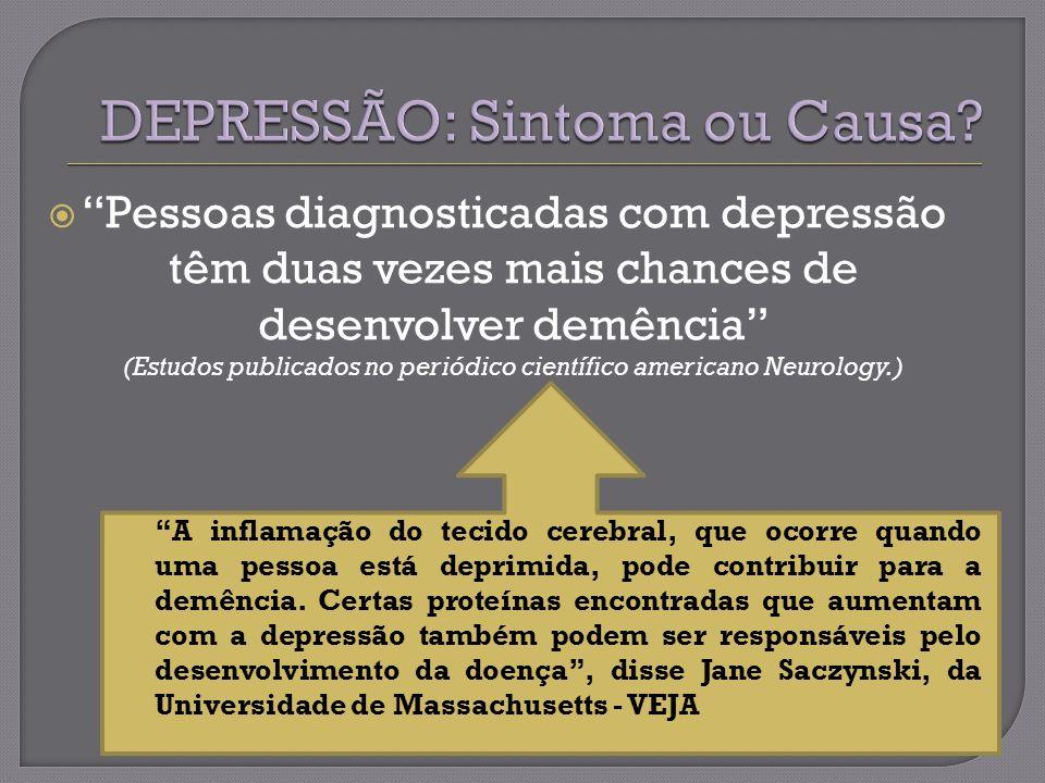 DEPRESSÃO: Sintoma ou Causa