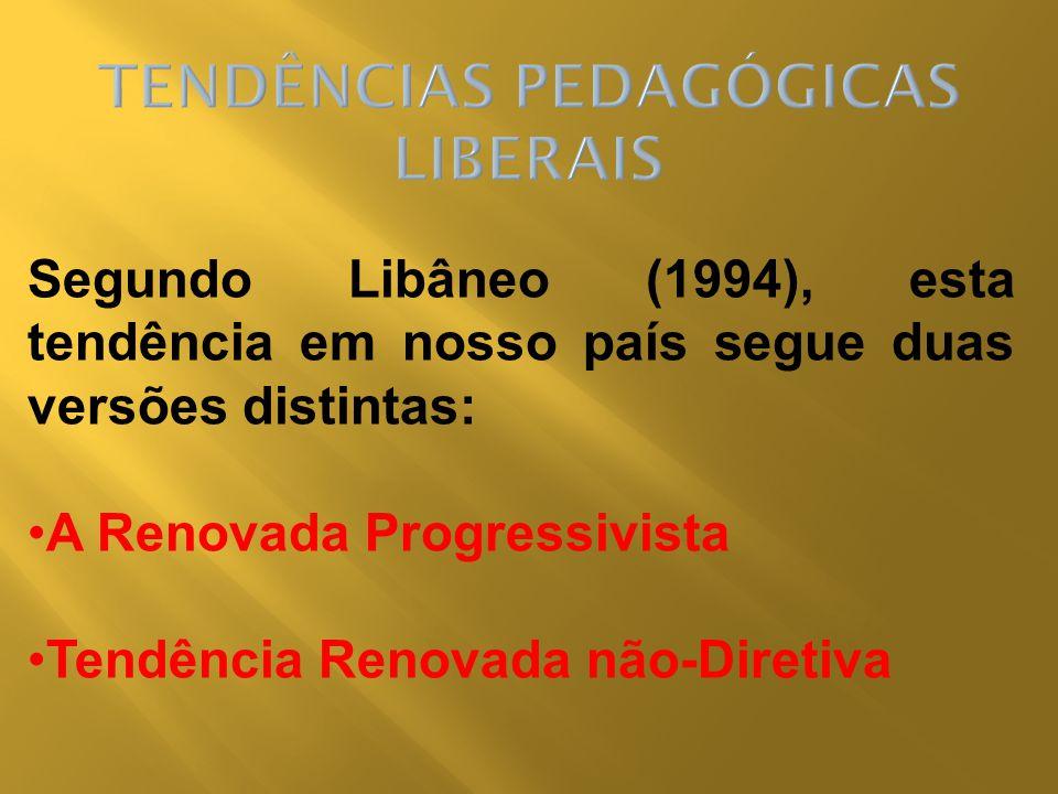 TENDÊNCIAS PEDAGÓGICAS LIBERAIS