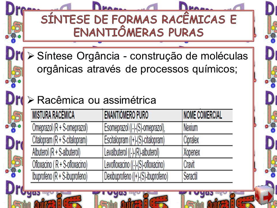 SÍNTESE DE FORMAS RACÊMICAS E ENANTIÔMERAS PURAS