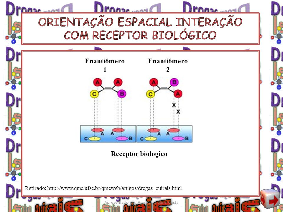 ORIENTAÇÃO ESPACIAL INTERAÇÃO COM RECEPTOR BIOLÓGICO