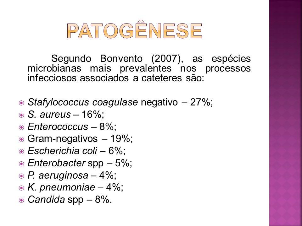 Stafylococcus coagulase negativo – 27%; S. aureus – 16%;