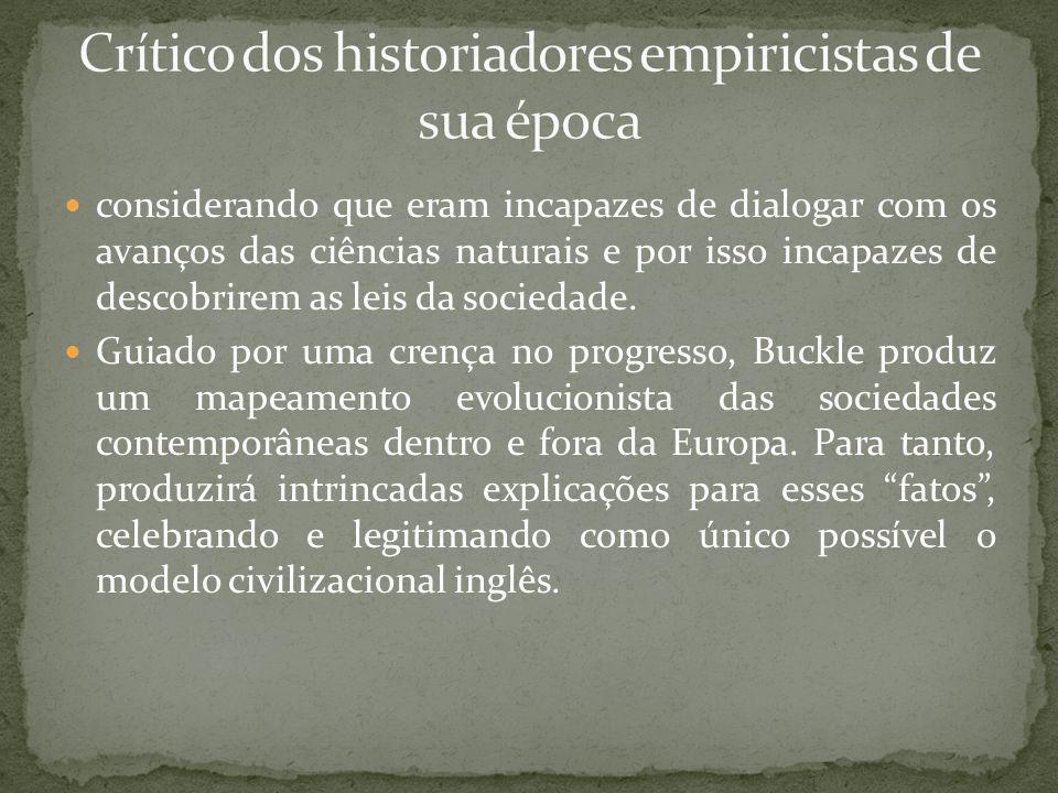Crítico dos historiadores empiricistas de sua época