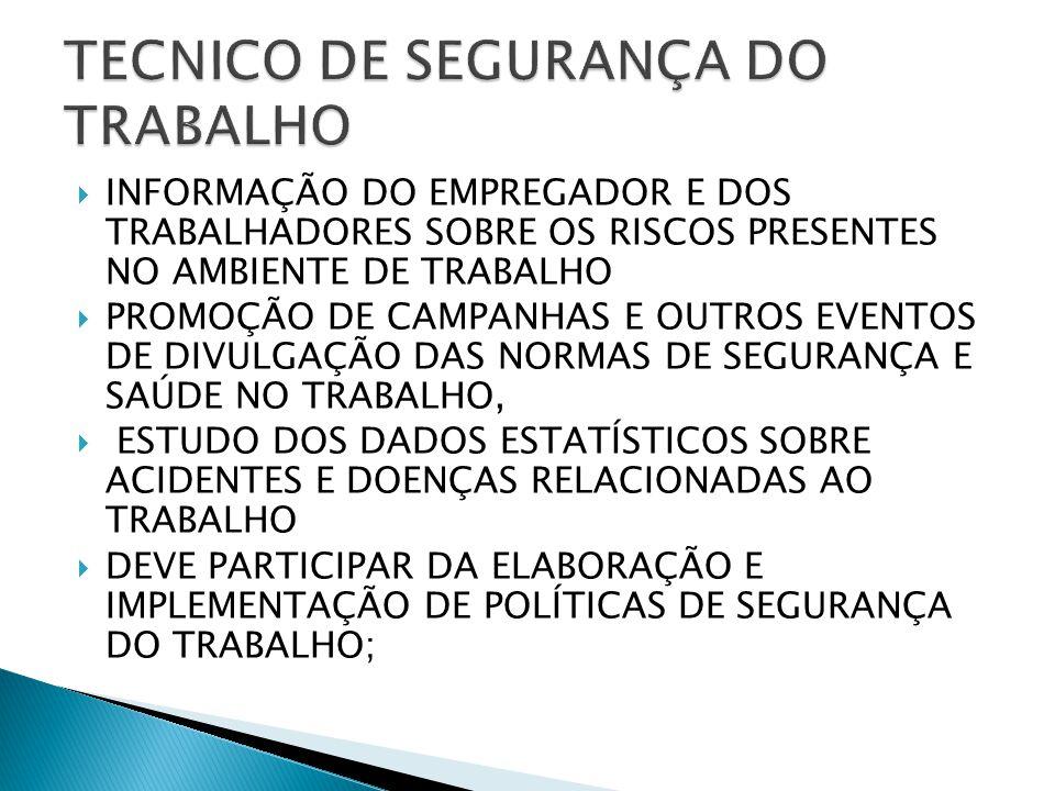 TECNICO DE SEGURANÇA DO TRABALHO