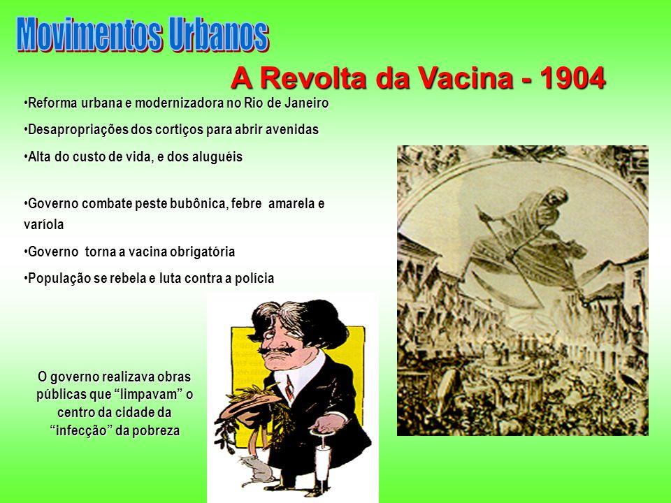A Revolta da Vacina - 1904 Movimentos Urbanos