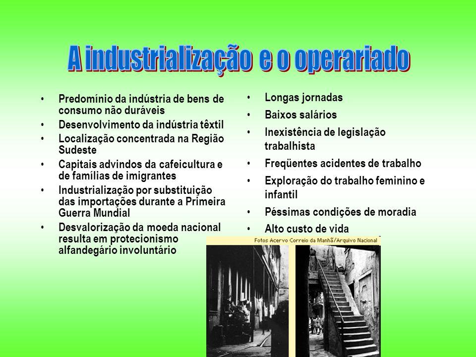 A industrialização e o operariado