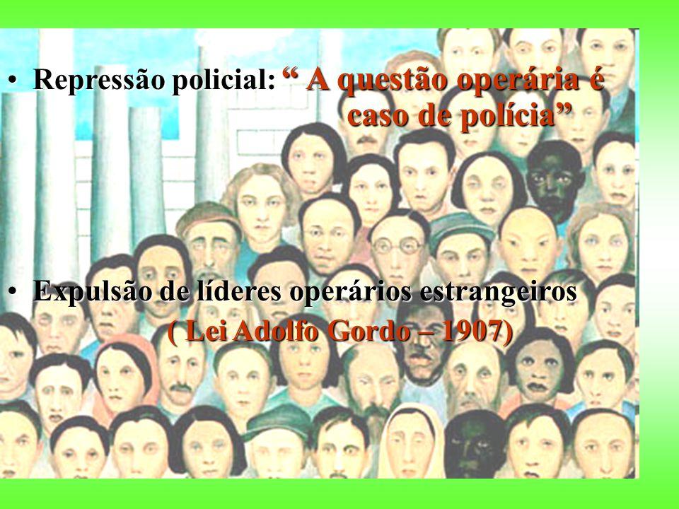 Repressão policial: A questão operária é caso de polícia