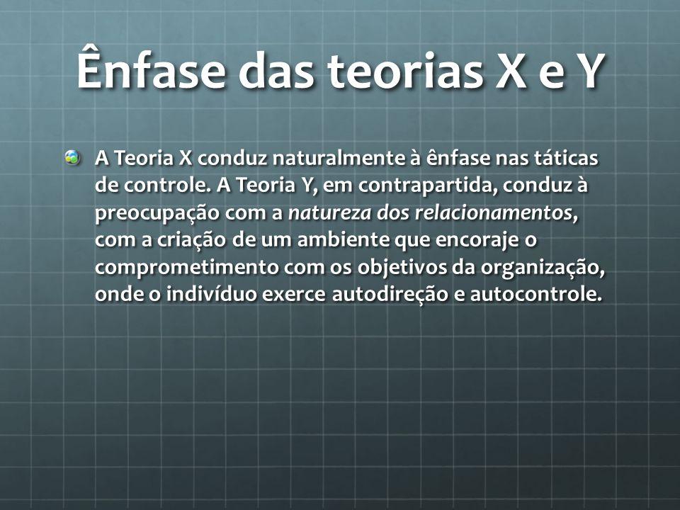 Ênfase das teorias X e Y