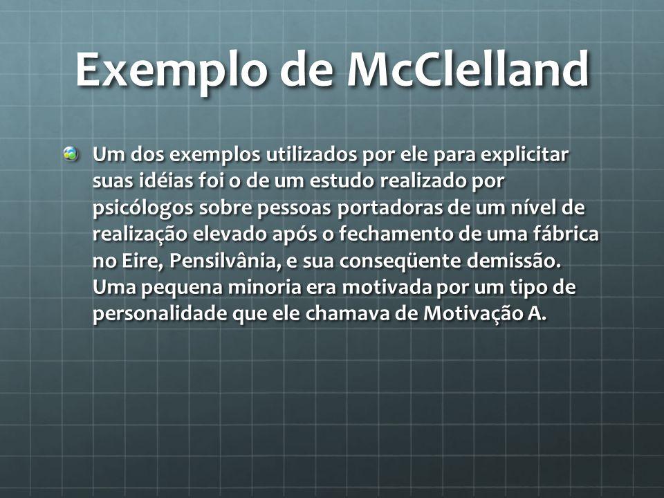 Exemplo de McClelland