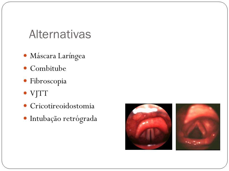 Alternativas Máscara Laríngea Combitube Fibroscopia VJTT