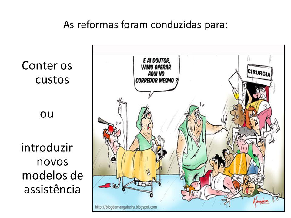 As reformas foram conduzidas para: