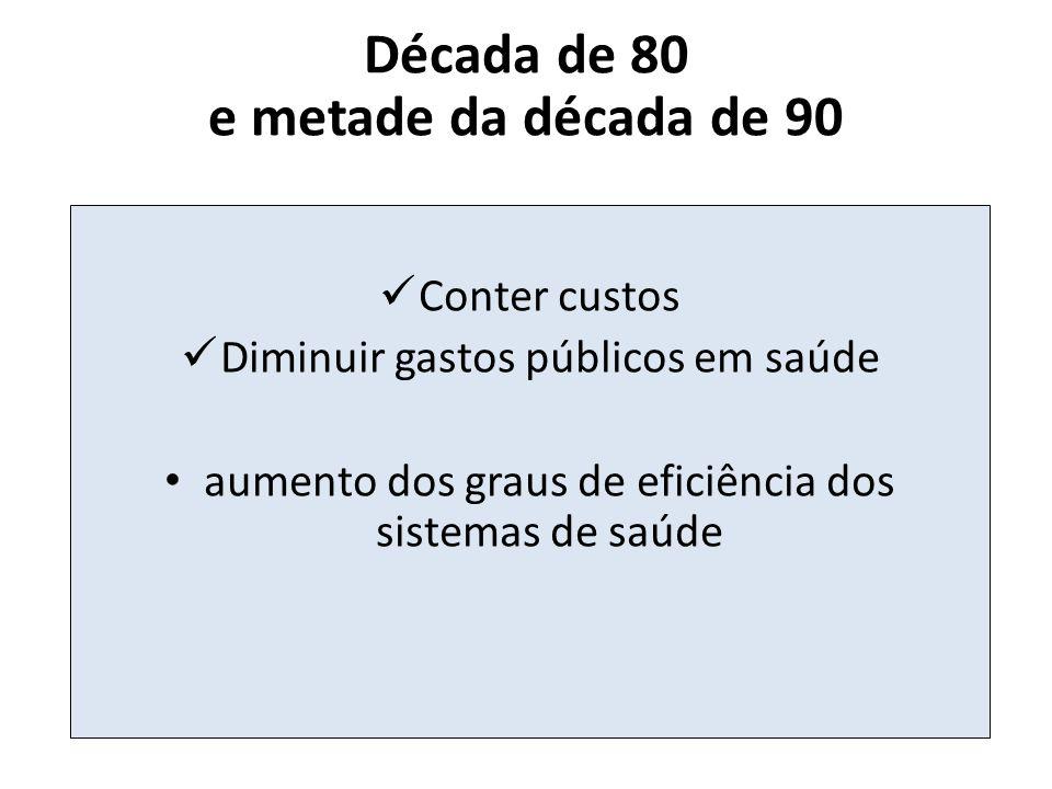 Década de 80 e metade da década de 90