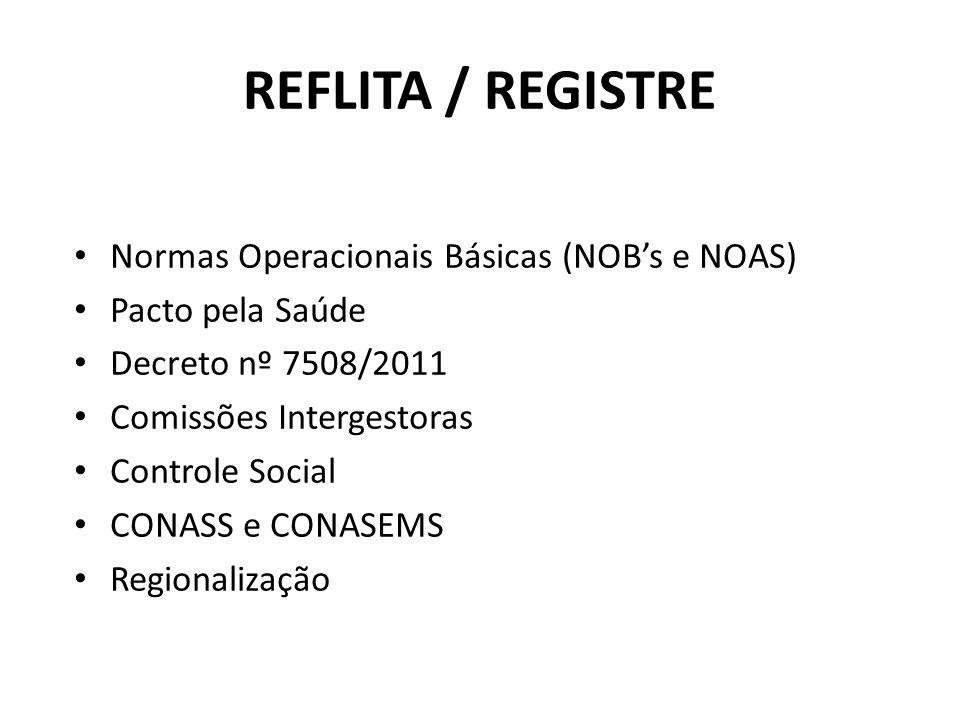 REFLITA / REGISTRE Normas Operacionais Básicas (NOB's e NOAS)