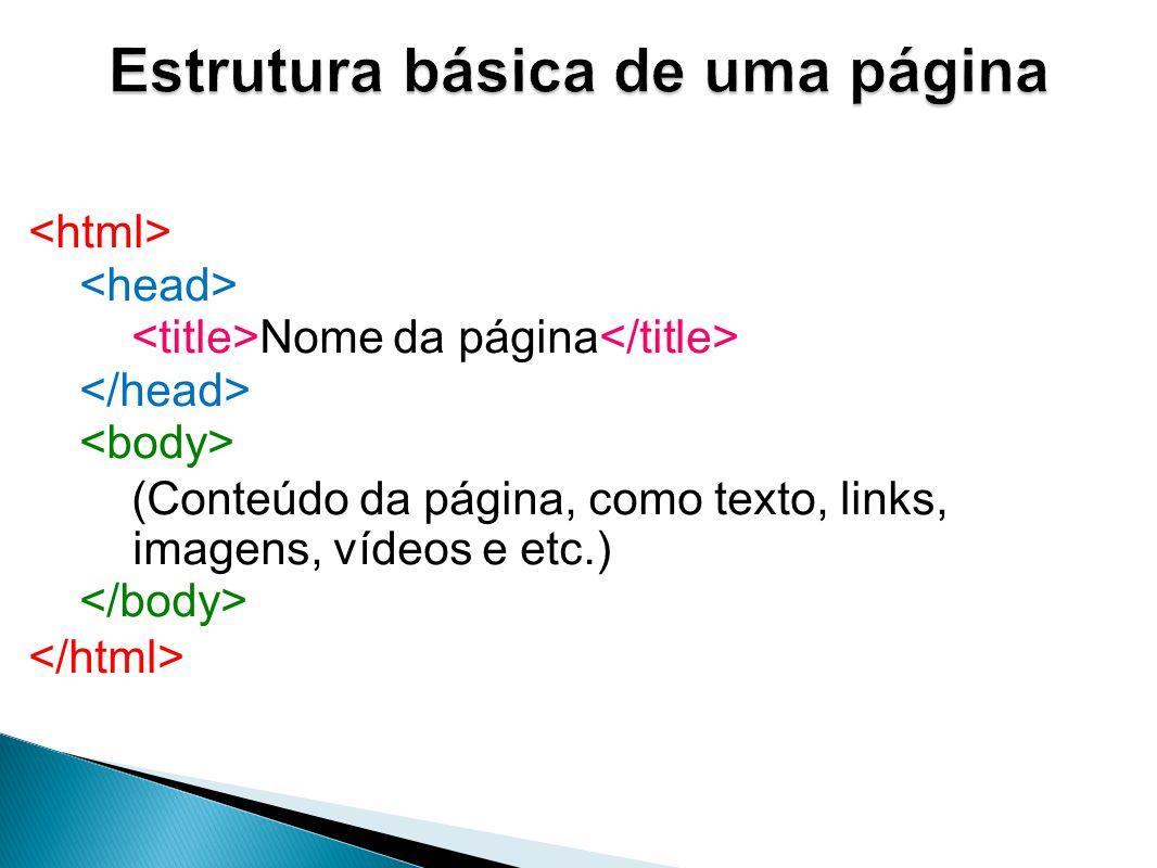 Estrutura básica de uma página
