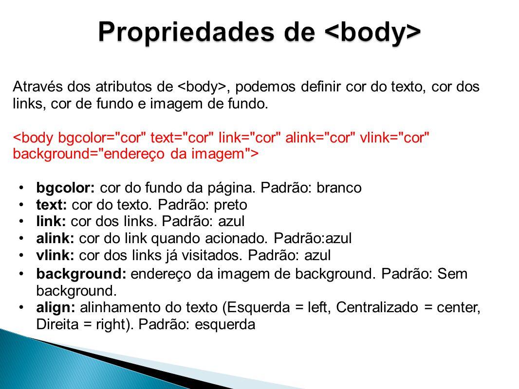 Propriedades de <body>
