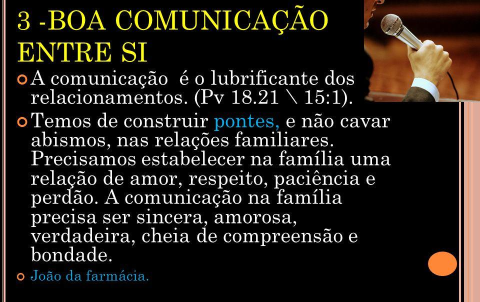 3 -BOA COMUNICAÇÃO ENTRE SI