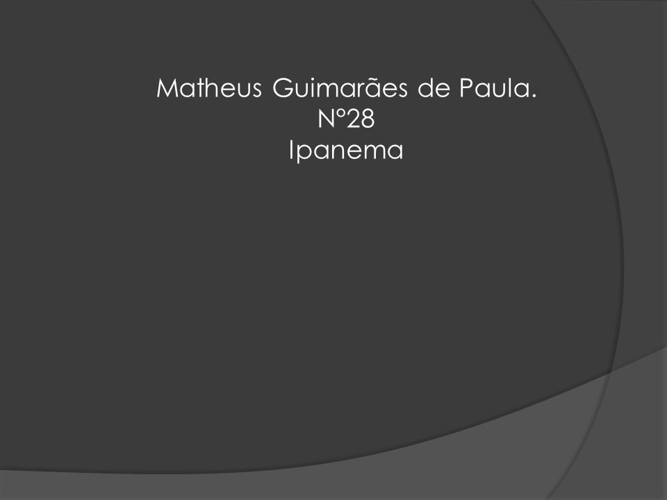 Matheus Guimarães de Paula. N°28