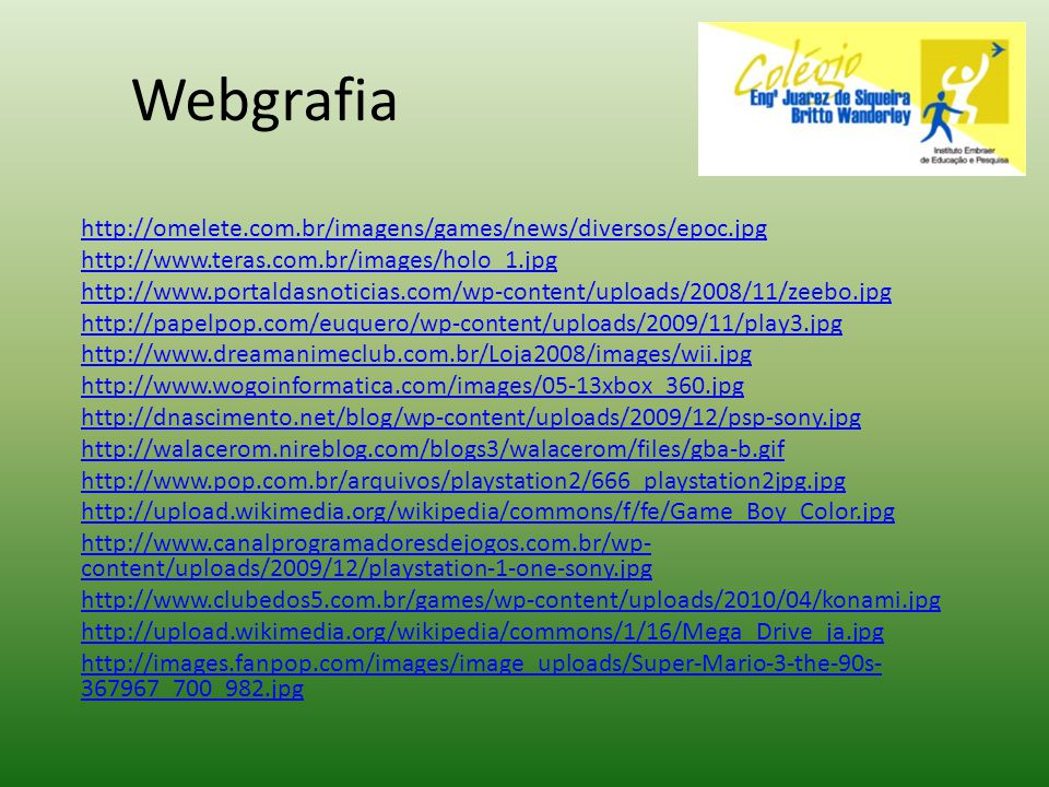 Webgrafia http://omelete.com.br/imagens/games/news/diversos/epoc.jpg