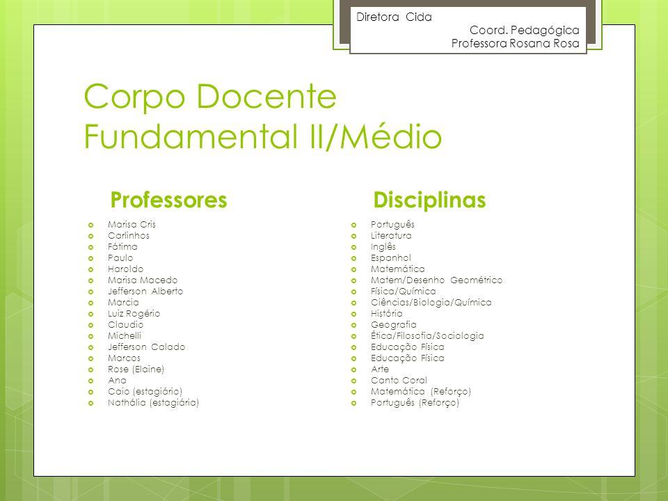 Corpo Docente Fundamental II/Médio