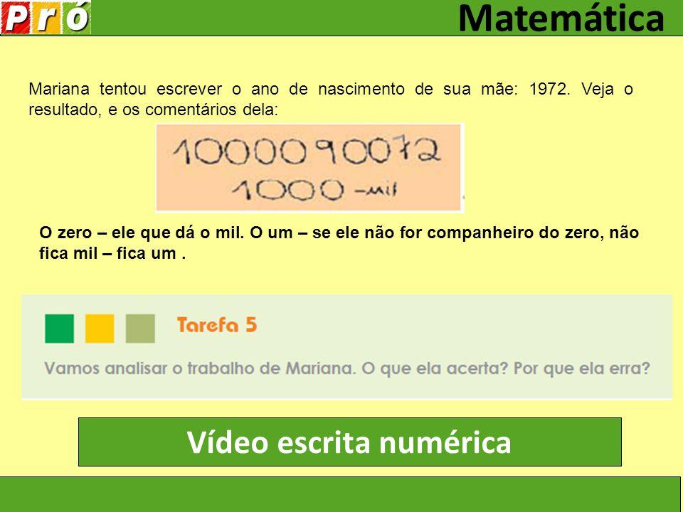 Vídeo escrita numérica