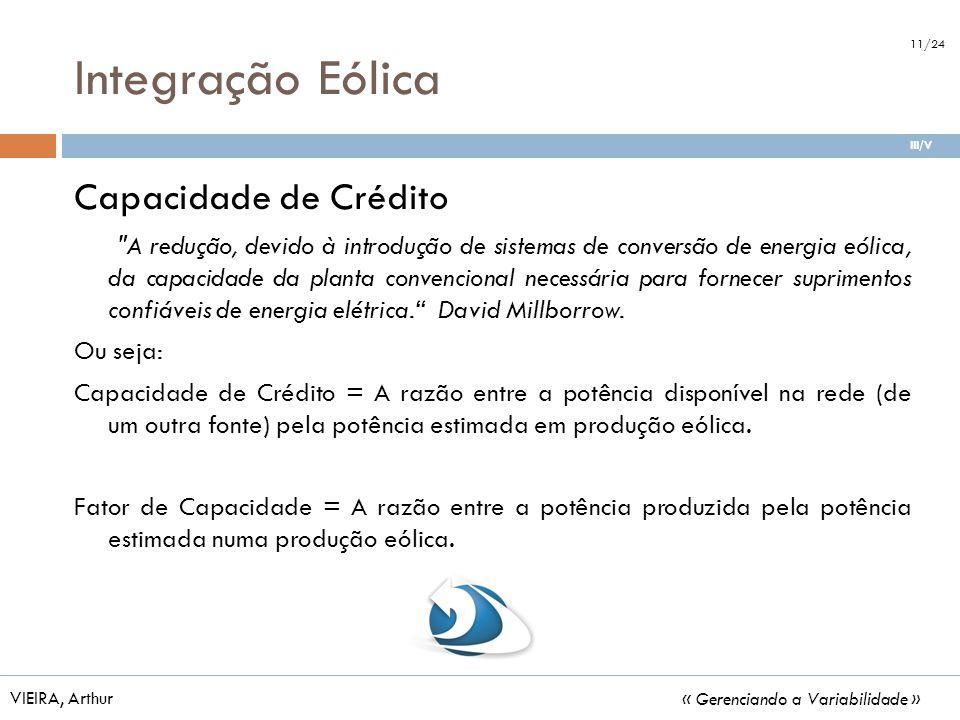 Integração Eólica Capacidade de Crédito