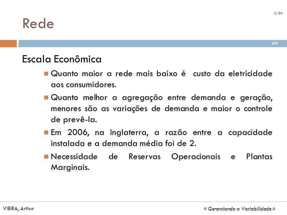 Rede 3/24. I/IV. Escala Econômica. Quanto maior a rede mais baixo é custo da eletricidade aos consumidores.
