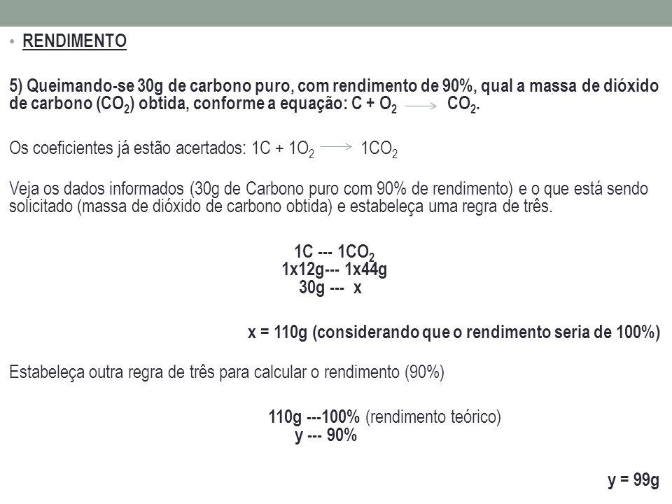 110g ---100% (rendimento teórico) y --- 90%