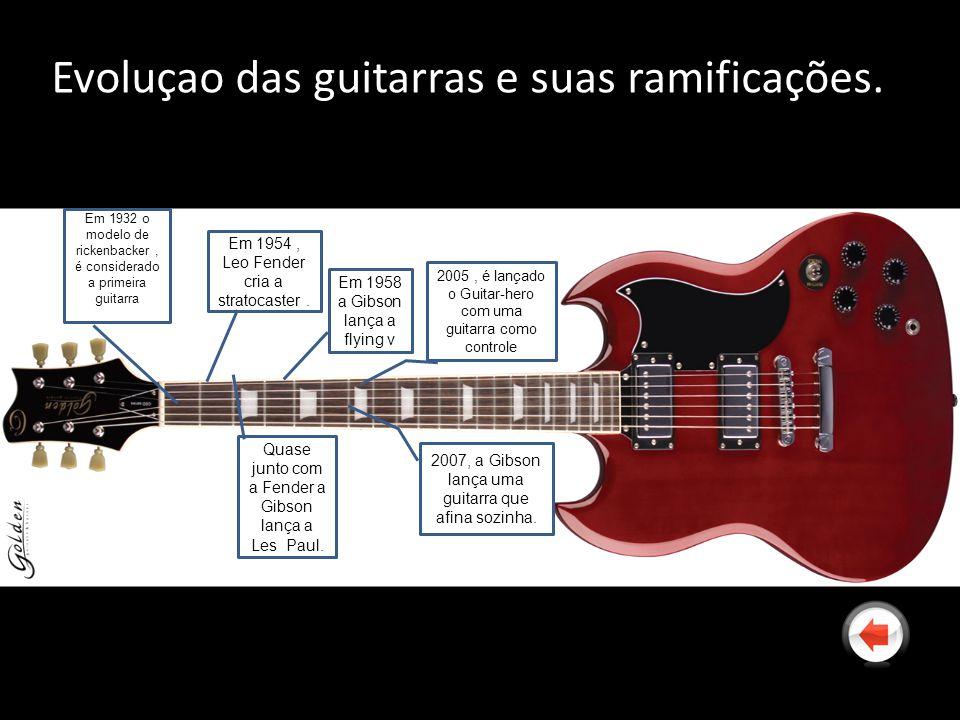 Evoluçao das guitarras e suas ramificações.