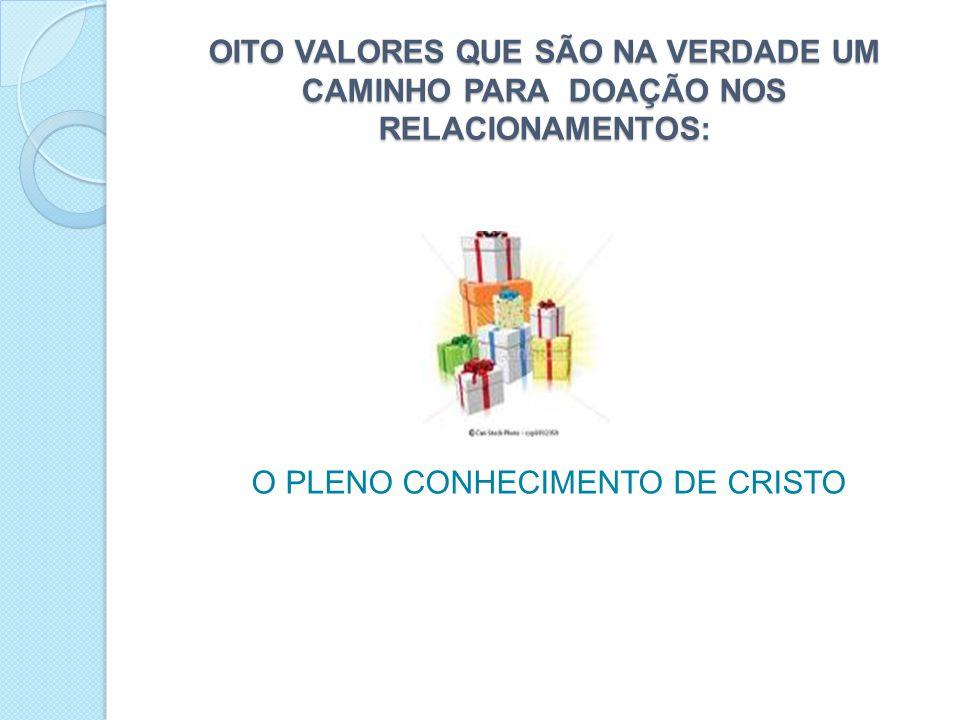 O PLENO CONHECIMENTO DE CRISTO