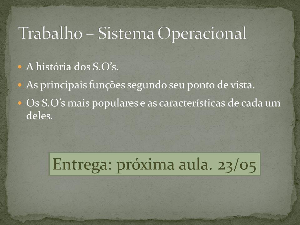 Trabalho – Sistema Operacional
