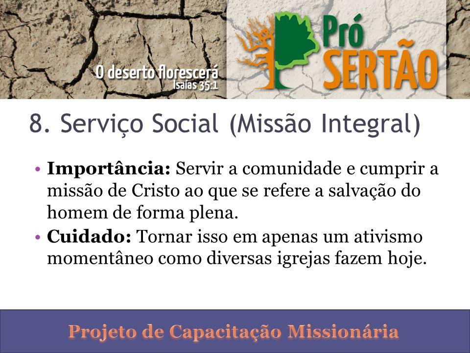 8. Serviço Social (Missão Integral)