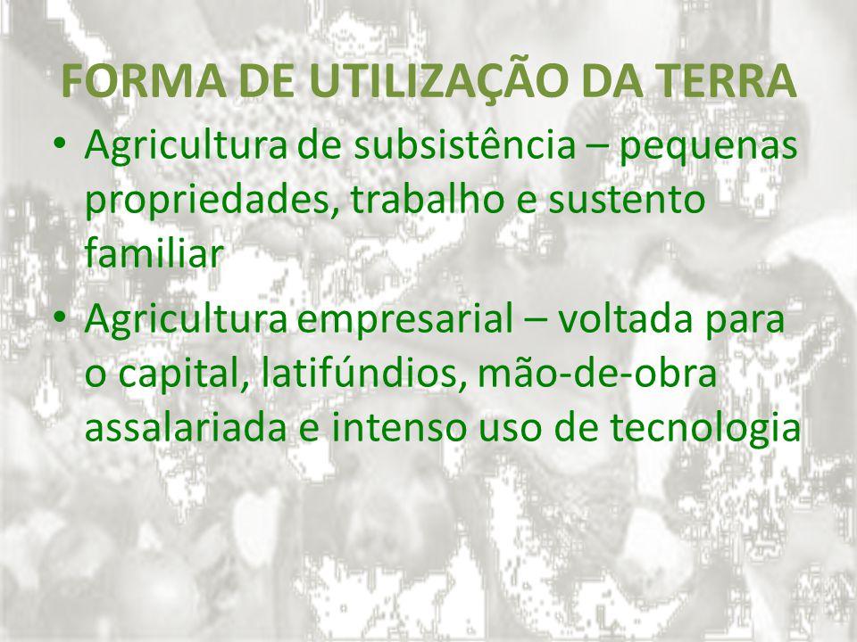 FORMA DE UTILIZAÇÃO DA TERRA