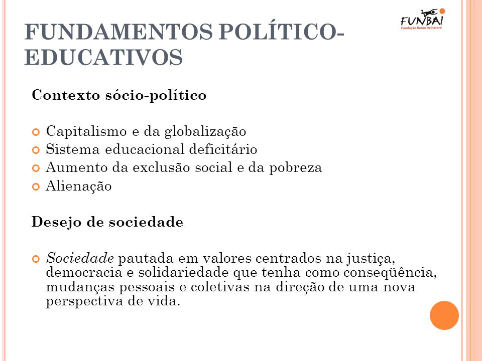 FUNDAMENTOS POLÍTICO-EDUCATIVOS