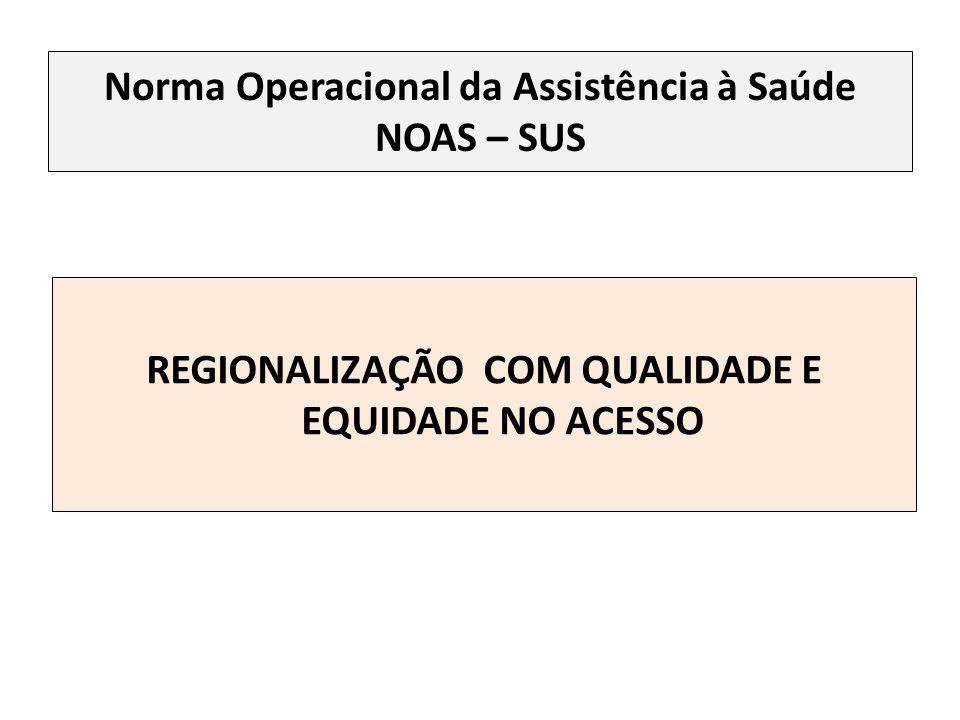 Norma Operacional da Assistência à Saúde NOAS – SUS