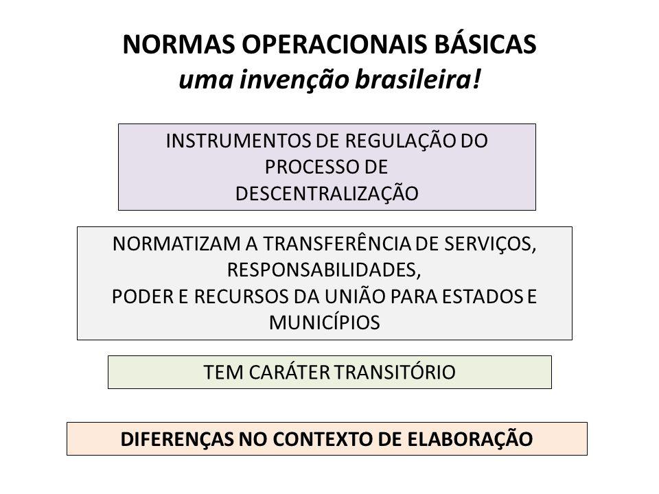 NORMAS OPERACIONAIS BÁSICAS uma invenção brasileira!