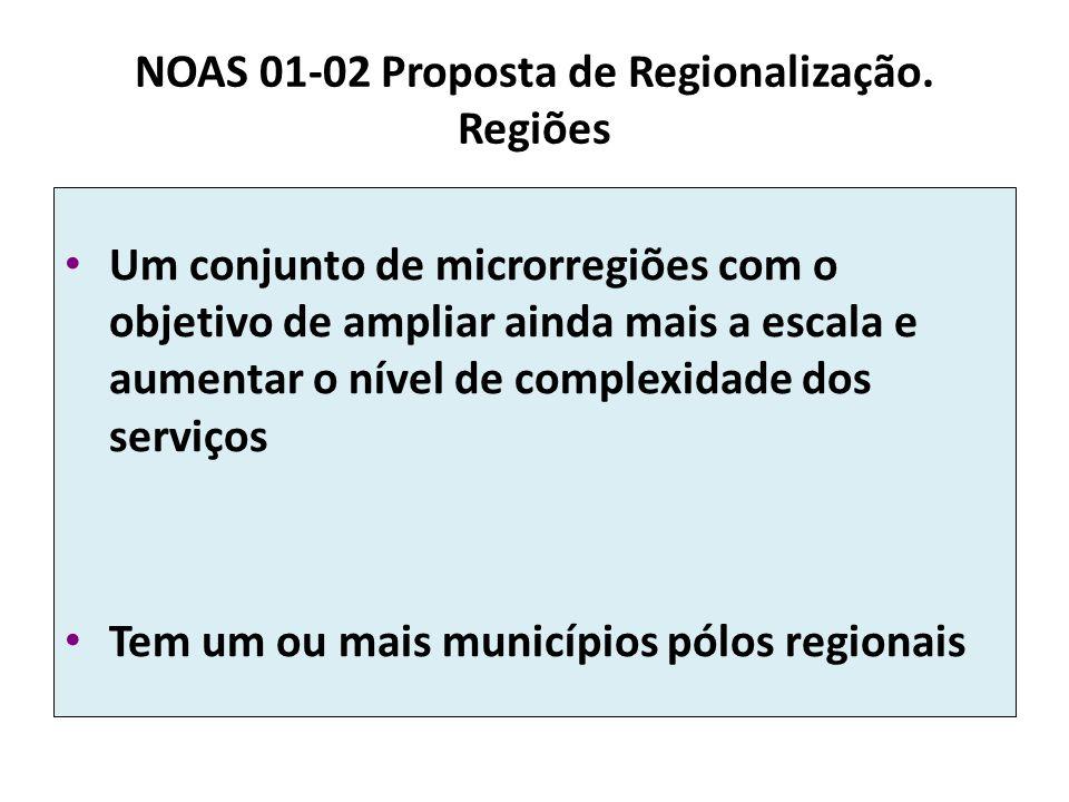 NOAS 01-02 Proposta de Regionalização. Regiões