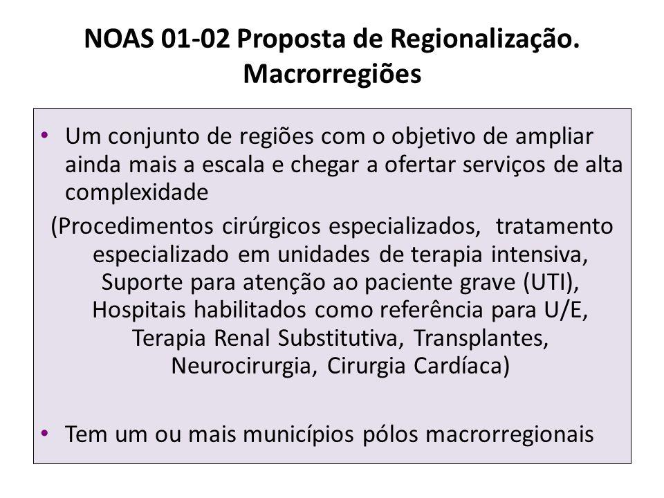 NOAS 01-02 Proposta de Regionalização. Macrorregiões