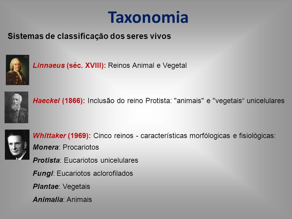 Taxonomia Sistemas de classificação dos seres vivos