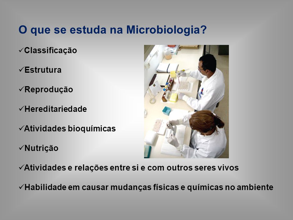 O que se estuda na Microbiologia
