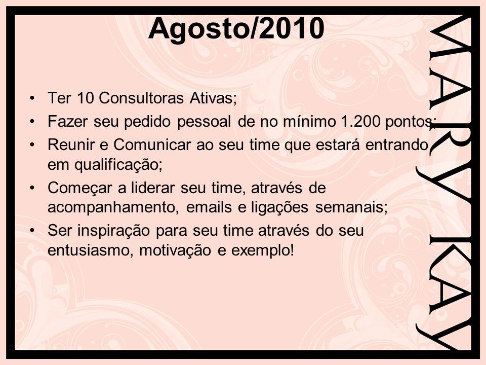 Agosto/2010 Ter 10 Consultoras Ativas;