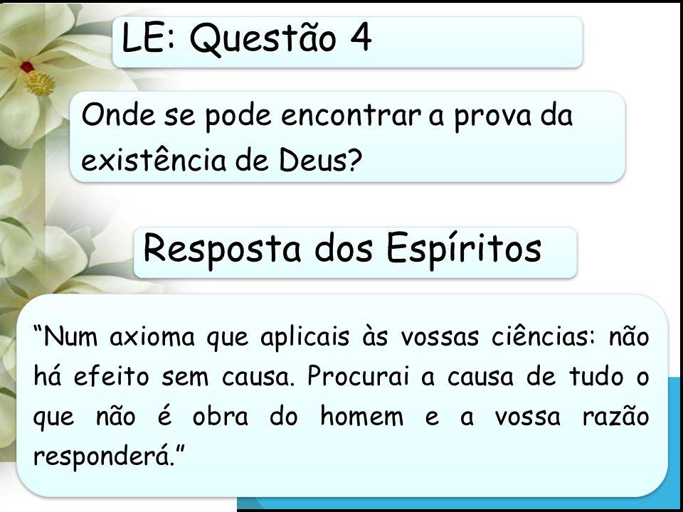 Resposta dos Espíritos