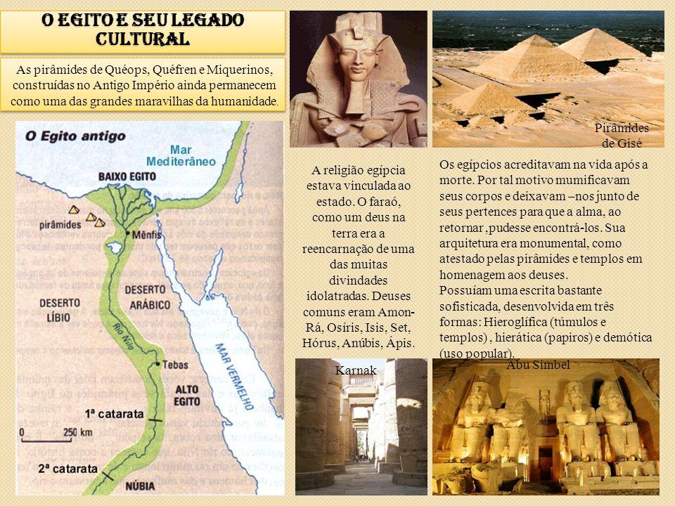 O Egito e seu legado cultural