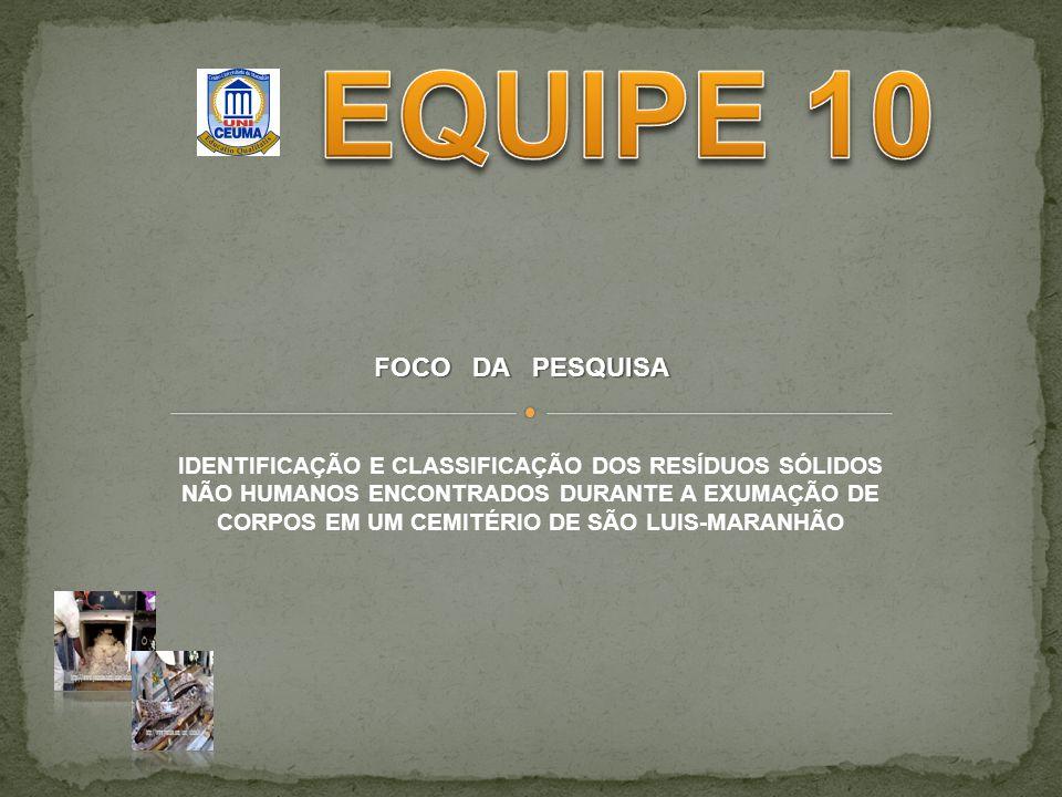 EQUIPE 10 FOCO DA PESQUISA
