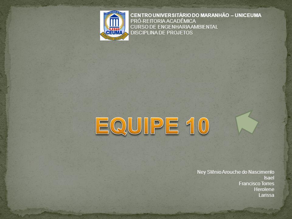 EQUIPE 10 CENTRO UNIVERSITÁRIO DO MARANHÃO – UNICEUMA