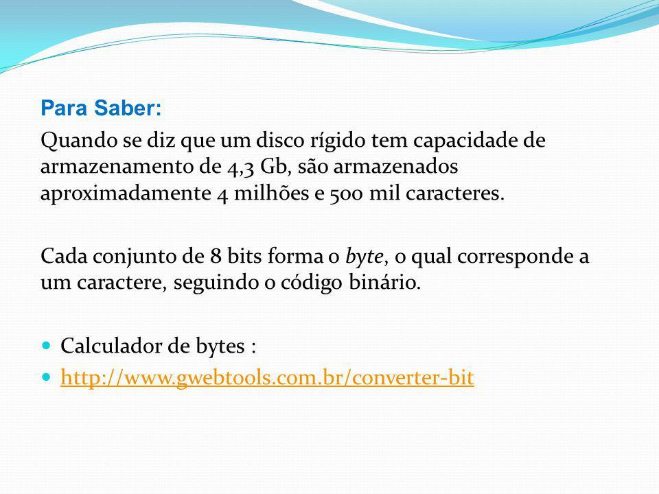 Para Saber: