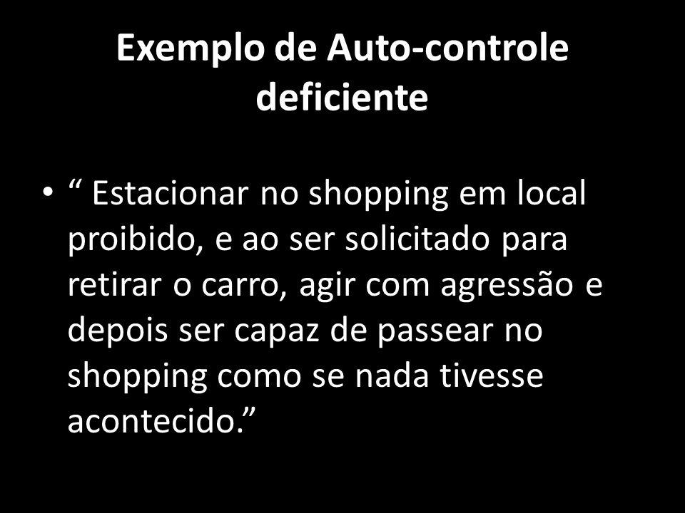 Exemplo de Auto-controle deficiente